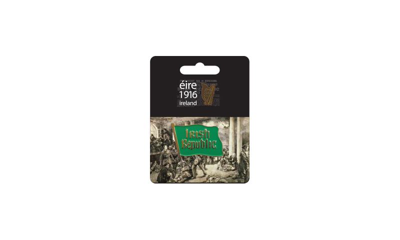 Proclamation Irish Republic Flag Lapel Pin on Headercard