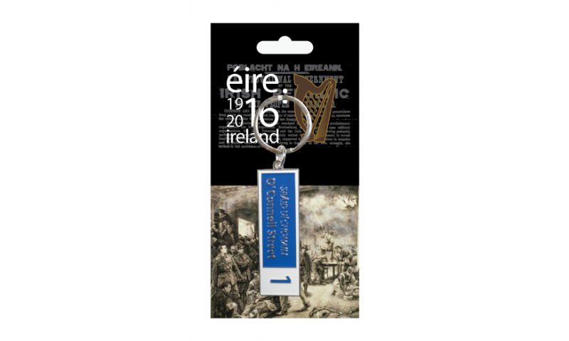 Proclamation Metal Street Sign Keyring - O'Connell Street