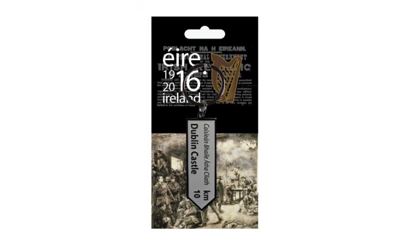 Proclamation Metal Street Sign Keyring - Dublin Castle