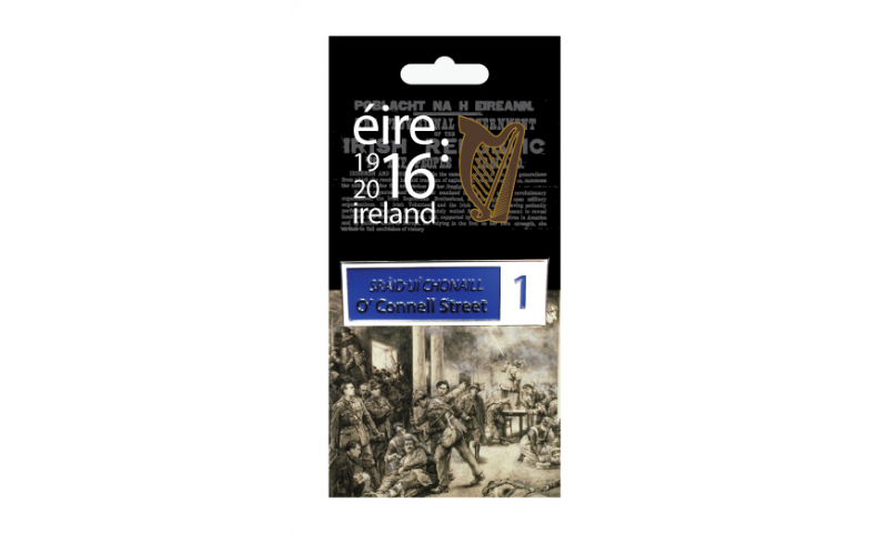 Proclamation Metal Street Sign Magnet - O'Connell Street