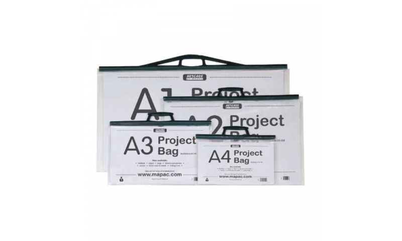 Artcare Project Bag with Handles, Clip Closers & Heavy Card insert A1