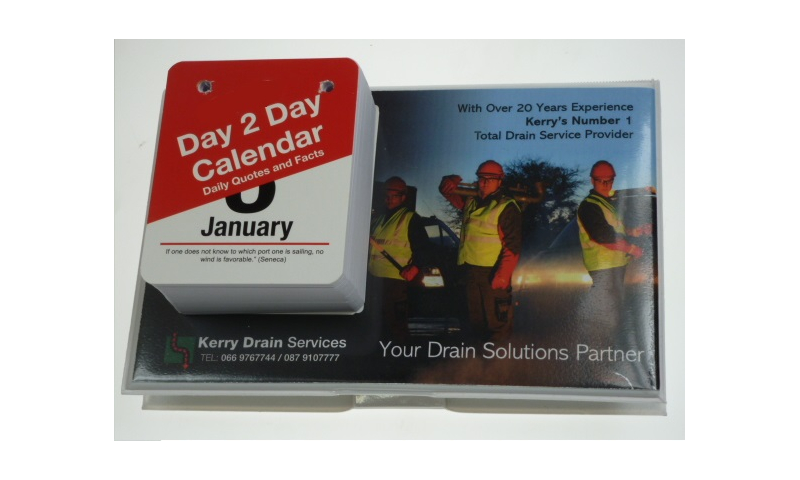 Daily Tear Off Date Desk Calendar 2022 with Full Colour Promotional Print, PVC Quality