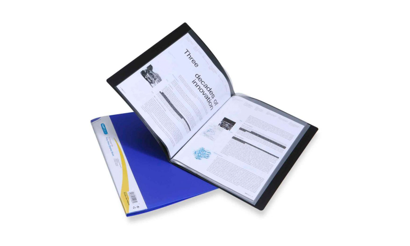 Rapesco Polyview Display Books, 10 Pocket, Black or Blue  (New Lower Price for 2021)