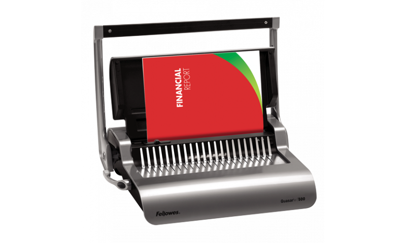 Fellowes Quasar 500 H-Duty Comb Binder, Binds up to 500 Sheets & Punches 22 Sheets (New Lower Price for 2021)