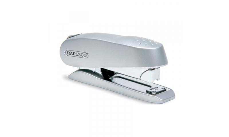 Rapesco Luna - Half Strip,  Front Loading, Desk Stapler, Deluxe Silver Finish