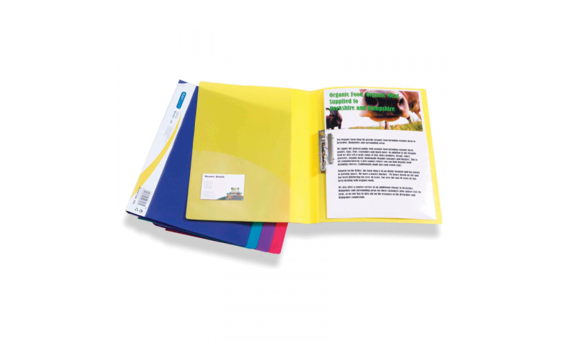 Rapesco Clampbinder, PP with metal clamp for unpunched papers, Inside Pocket
