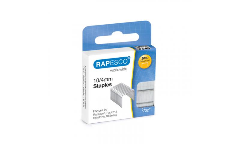 Rapesco 10/4 Staples 2 x 1000 on hangcard, Universal No10 Mini Stapler size