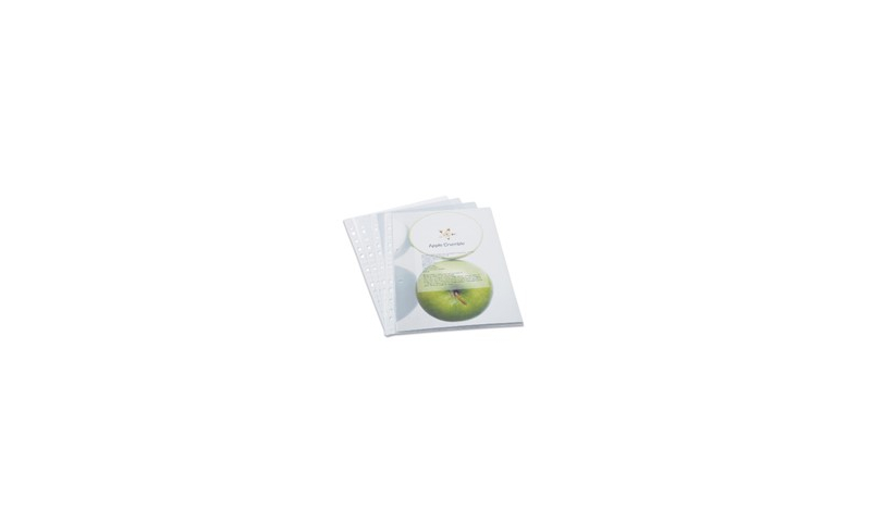 Rapesco Eco Punch Pockets A4 (Pack = 100 Pockets) Clear