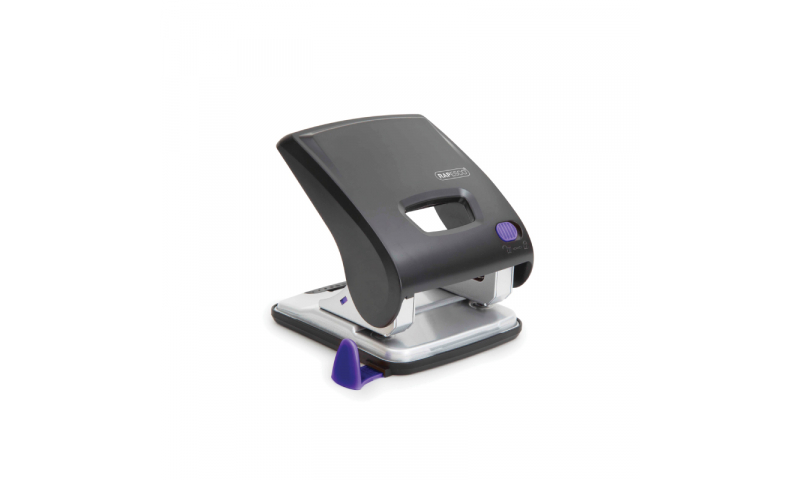 Rapesco X5 Power Assisted H/Duty 2 hole Punch 30 Sheets, Black