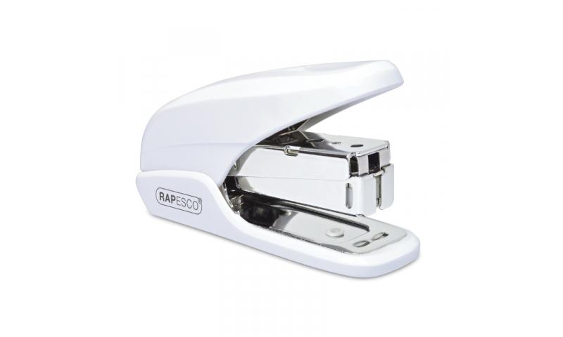 Rapesco X5 Mini Less effort Stapler, 20 sheet, White