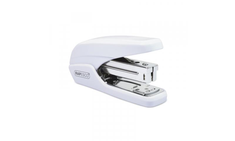 Rapesco X5 25 Less Effort Desk Stapler, 25 sheet, White