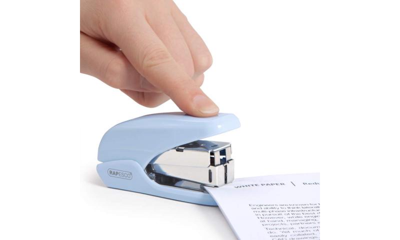 Rapesco X5 Mini Less effort Stapler, 20 sheet, Blue