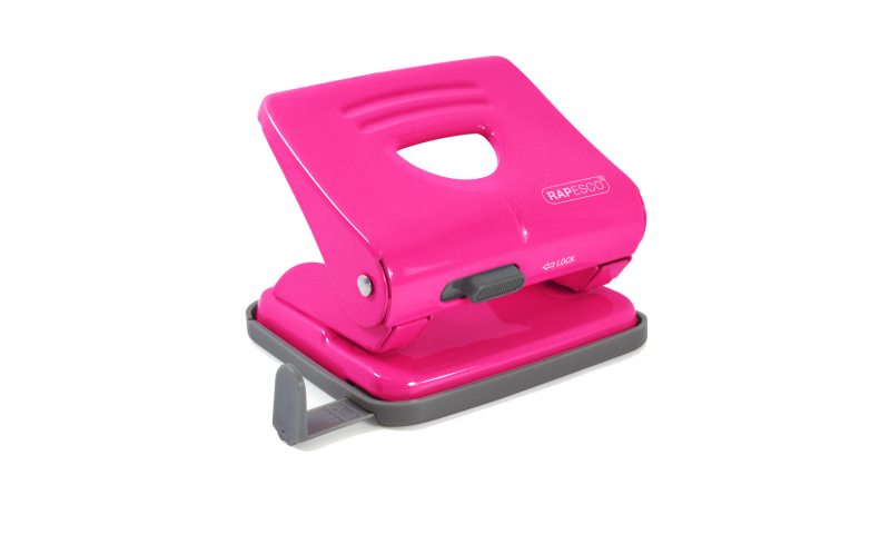 Rapesco 825, 25 Sheet Metal H/Duty Perforator, Pink