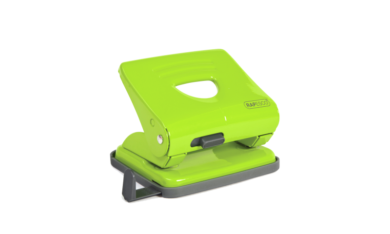 Rapesco 825, 25 Sheet Metal H/Duty Perforator, Green