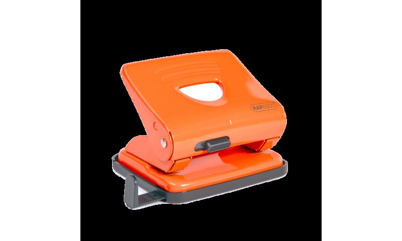 Rapesco 825, 25 Sheet Metal H/Duty Perforator, Orange