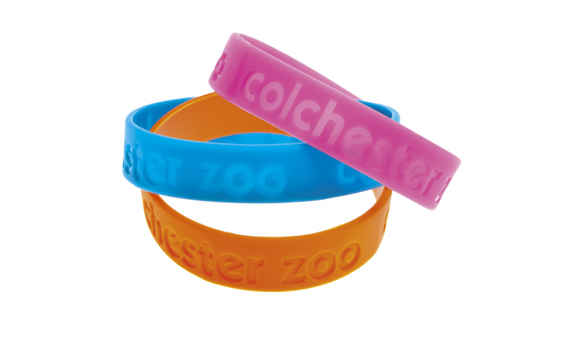 Silicon Flexi Wristband Printed or Enbossed, Many colours available