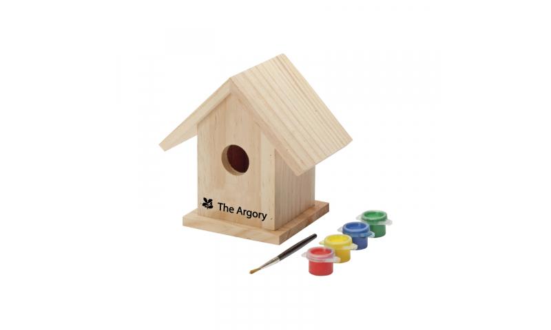 Natura Wooden Bird House Paint Set - NEW