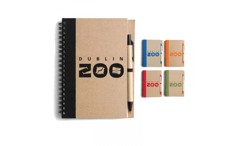 Natura Notepad & Naturepen, Asstd Colours, Printed with your Logo