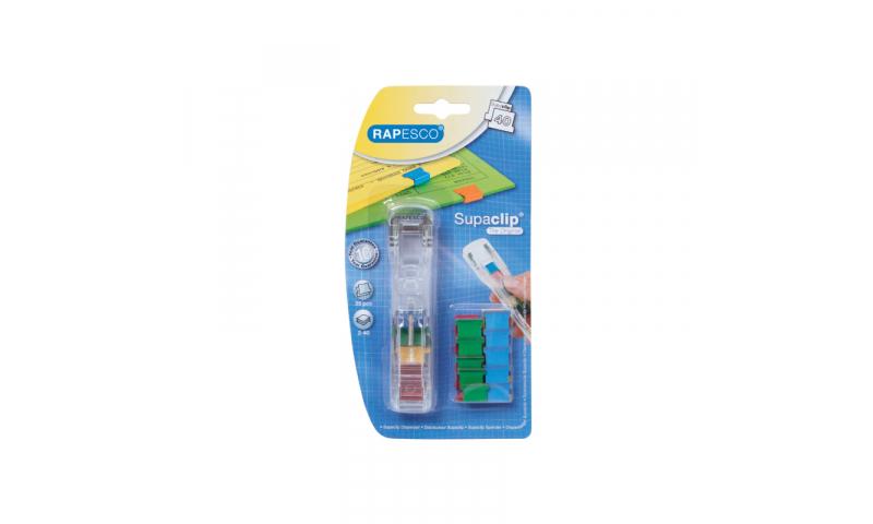 Rapesco Supaclip 40 Dispenser + 25 Multicoloured clips