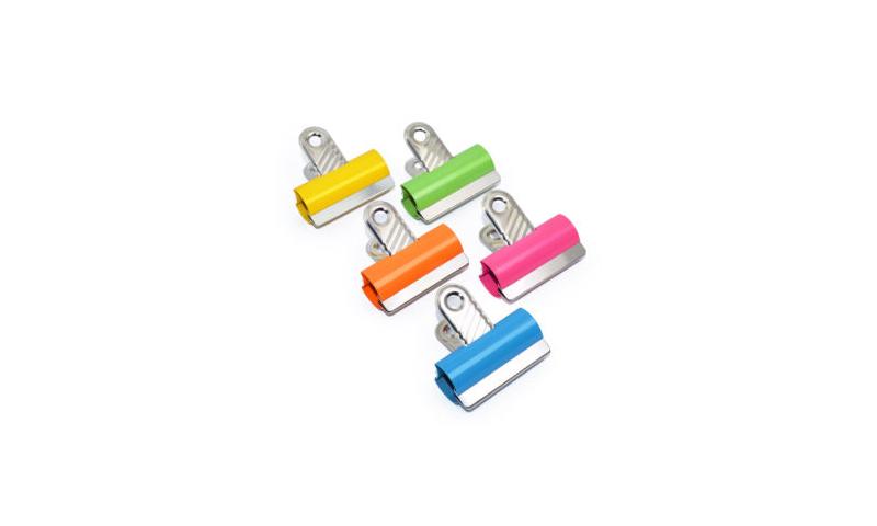 Rapesco 60mm Coloured Letter clips - Asstd pk 10  (New Lower Price for 2021)
