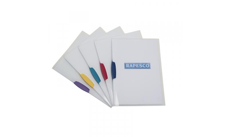 Rapesco Pivot Clip File Pk 5 assorted