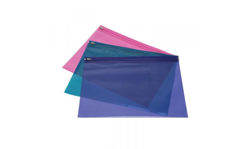 Rapesco A4 Zippi Bag Strong Pk25 Bright Asstd
