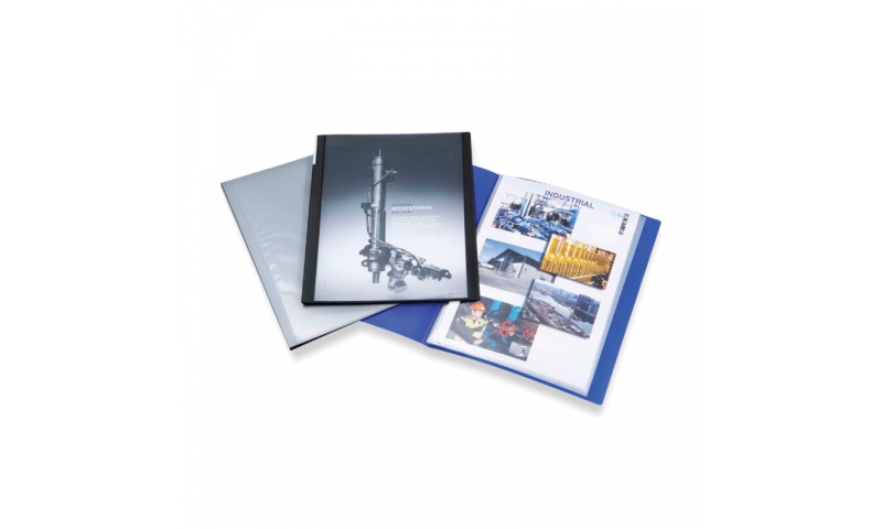 Rapesco A4 10 Pocket PP Presentation Display Book Blue (New Lower Price for 2021)