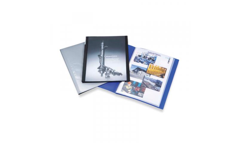 Rapesco A4 40 Pocket PP Presentation Display Book Black (New Lower Price for 2021)