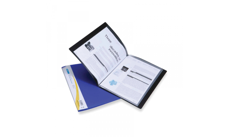 Rapesco Polyview Display Books, 20 Pocket, 3 Colours (New Lower Price for 2021)