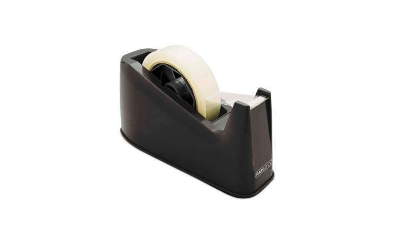 Rapesco Desk Tape Dispenser - Dual, 33x66m, Black or Blue (New Lower Price for 2021)