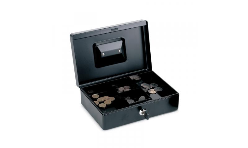 """Rapesco 10"""" 250mm Steel Locking Cash Box, Asstd"""