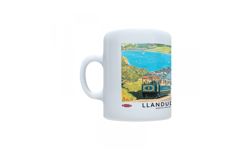 Railway Design Ceramic Mug, 380ml, Full Colour Wrap Print