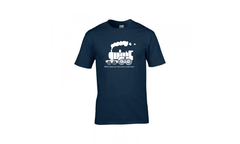 Bespoke Railway Design T-Shirt, Adult sizes,  printed 1 position  1 Colour