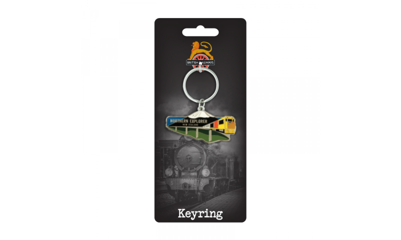 Railway Design  Metal Keyring -  Fully Bespoke Design on Railway Headercard