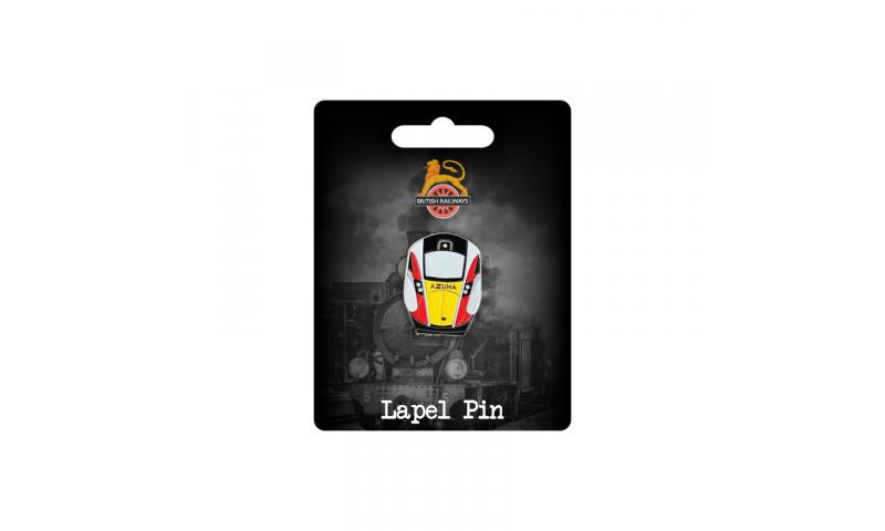 Railway Design  Metal Lapel Pin  -  Fully Bespoke Design on Railway Headercard