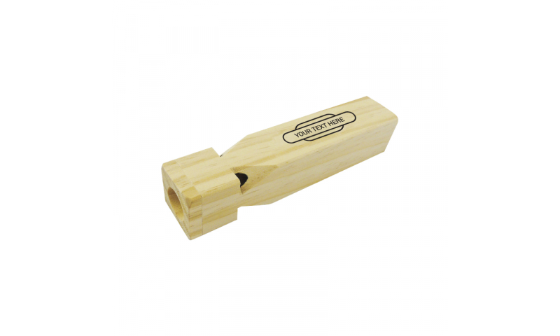 Large Wooden Train whistle with 1 colour print logo