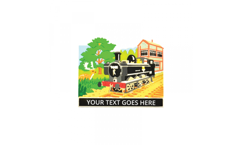 Railway Design Rubber Magnet ( Add your Text )  on Railway Headercard