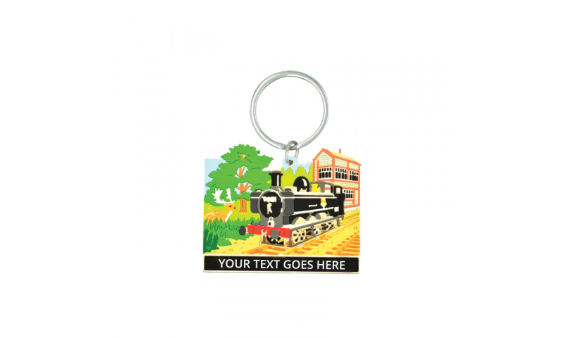 Railway Design Rubber Keyring ( Add your Text )  on Railway Headercard