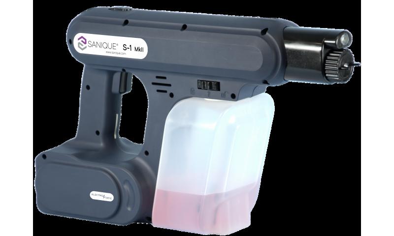 Electrostatic S1.2 Handheld Sprayer Kit, 2x2.5ah Li-ion Batteries and Carry Case