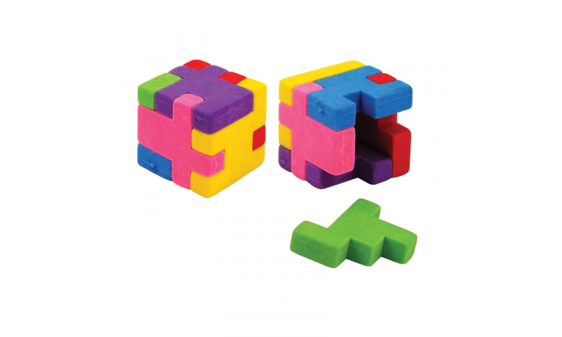 Novelty Cube Puzzle Eraser (New Lower Price for 2021)