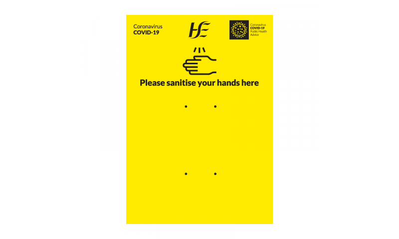 Covid 19 Dispenser Yellow Safety Backing Board