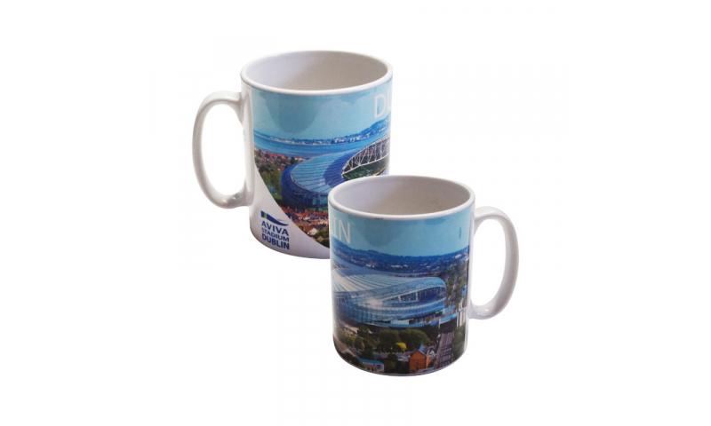 Barrel Ceramic mug, 2 Colour Print inc. ( x10 base colours available )