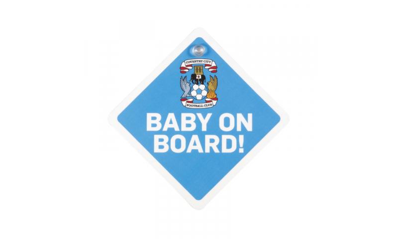 Baby on Board Sign, with window sucker, Fully Bespoke Design