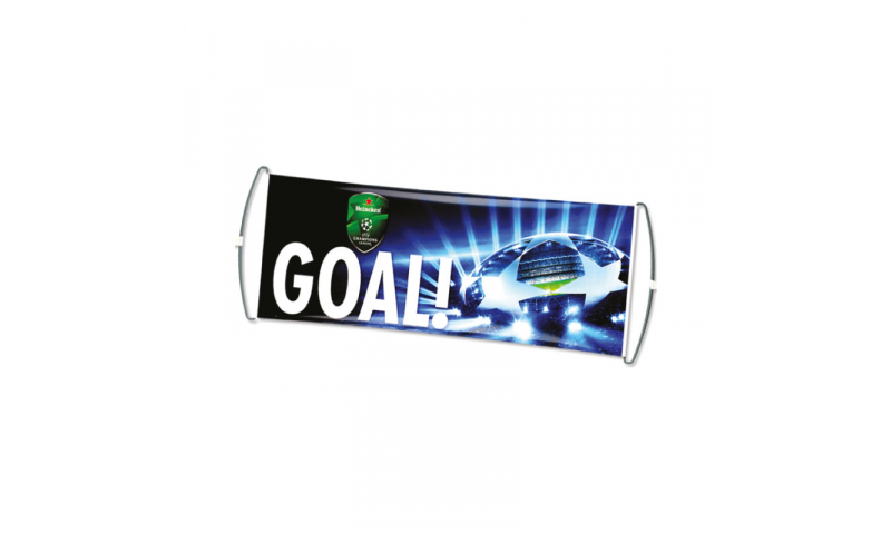 Pull out/ Roll up Supporter Banner Flag, 80cm x 25cm, Fully Bespoke Design Col print Inc.