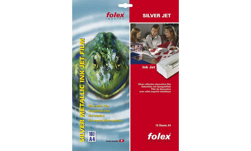 Folex Silver Metalic Inkjet Film A4, Mirror Effect, 5 Sheets: On Special Offer