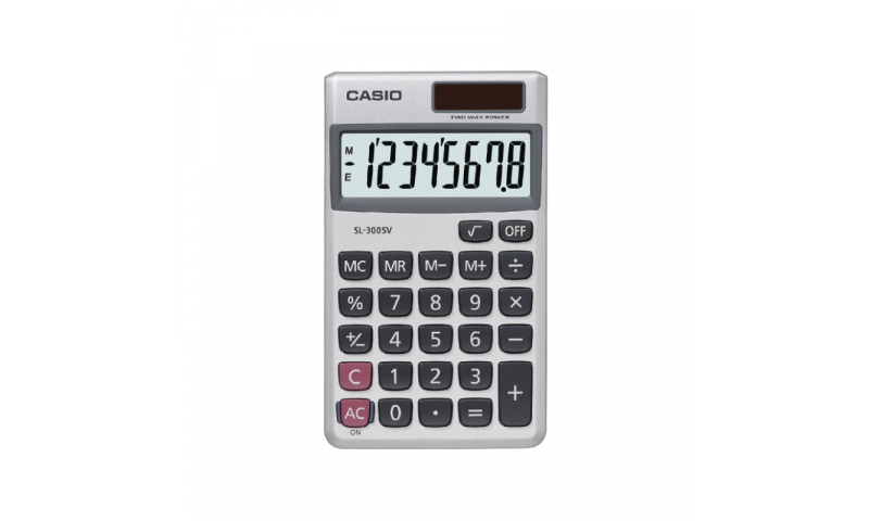 Casio 8 Digit Solar Pocket Calculator (New Lower Price for 2021)