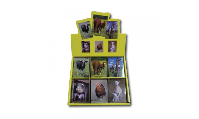 Novelty Mini Notebooks Farm Animals 6 Asstd