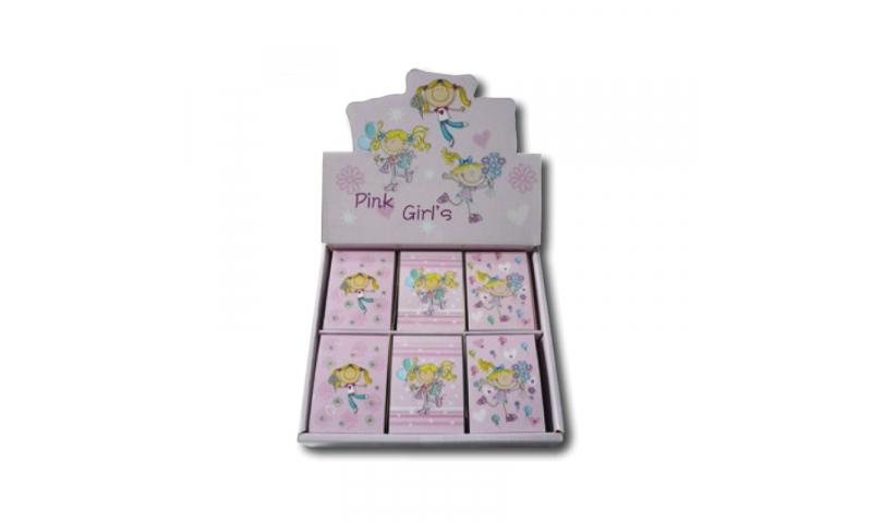 Novelty Mini Notebooks Pink Girls 3 Asstd