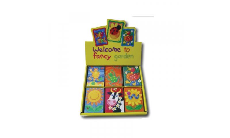 Novelty Mini Notebooks Fancy Garden 6 Asstd