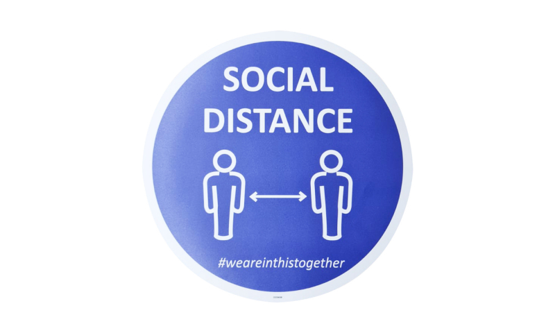 COVID-19 Social Distance We are in this Together Vinyl Floor Sticker